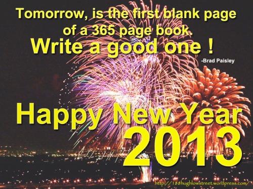 Happy New Year 2013