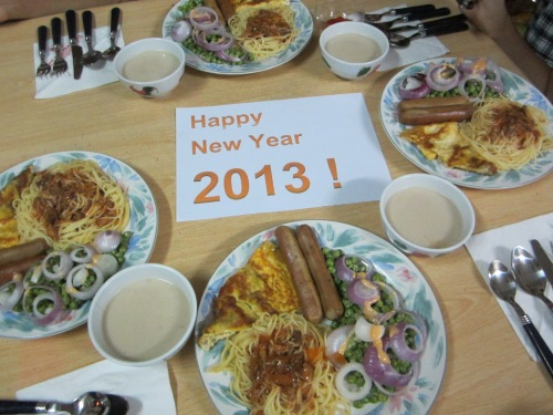 New Year eve's dinner