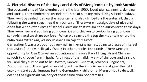 ** Sep 13, 2014. History of the Boys and Girls of Menglembu